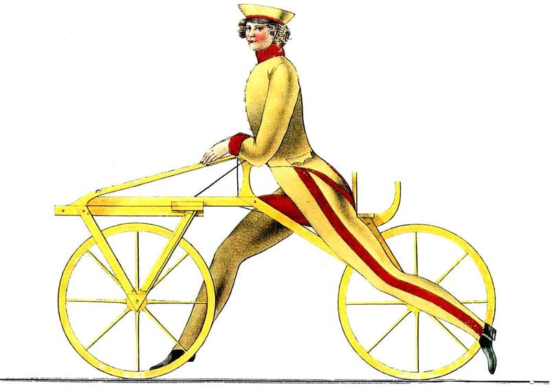 Draisine - an antique bicycle