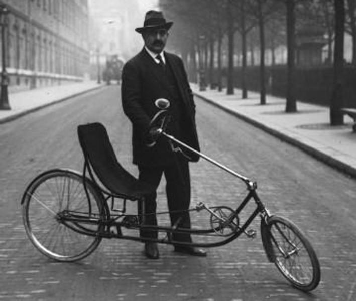 vintage recumbent bicycle