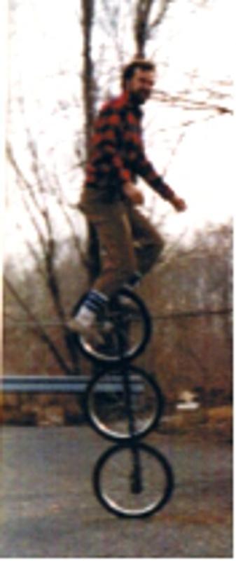 Jeff Napier three-wheel unicycle
